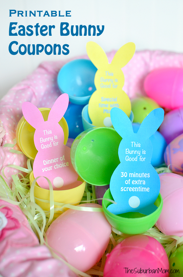 Printable Easter Egg Fillers And Easter Basket Ideas